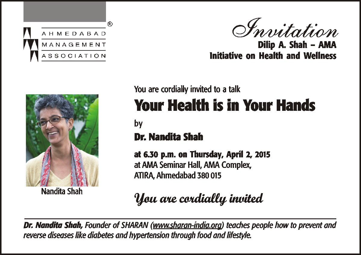 Your health is in your hands health talk sharan 2nd april invitation draft stopboris Gallery